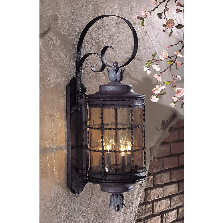 "Mallorca™ Collection Iron 34 1/4"" High Outdoor Light in scene"