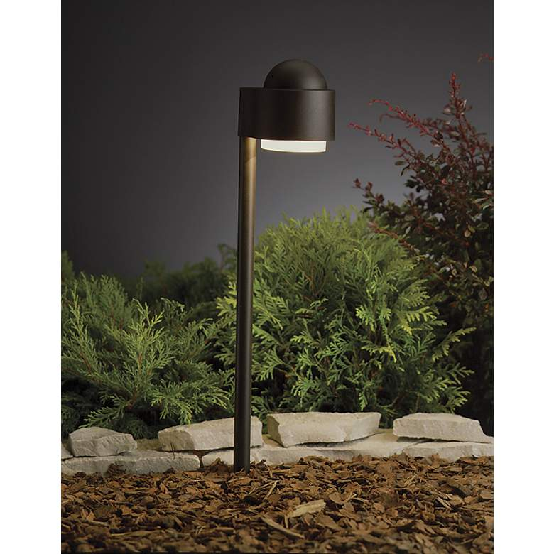 Kichler Textured Bronze Garden Path Landscape Light in scene