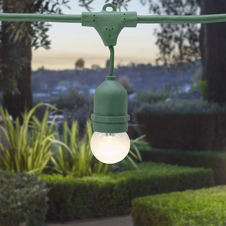 Green 48-Foot 24-Light DIY Suspended Light Kit