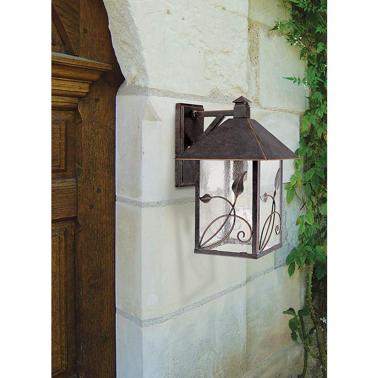 "French Garden 15"" High Bronze Outdoor Wall Light"