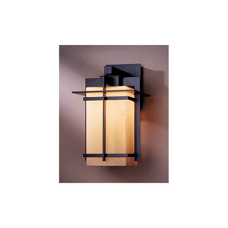 "Hubbardton Forge Tourou Bronze 14"" High Outdoor Wall Sconce in scene"
