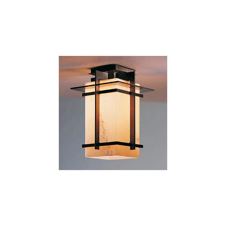 "Hubbardton Forge Tourou 12"" High Ceiling Fixture in scene"
