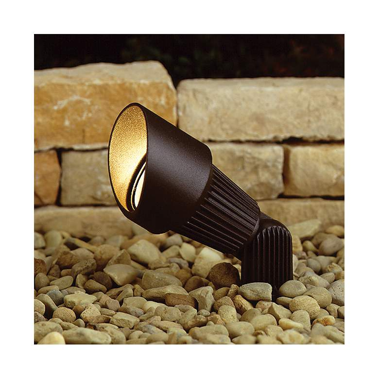 Kichler Bronze Landscape Adjustable Spot Path Light in scene