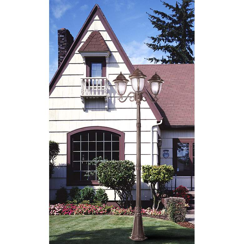 "Casa Sorrento™ Bronze 90 1/2""H 3-Light Post Light"