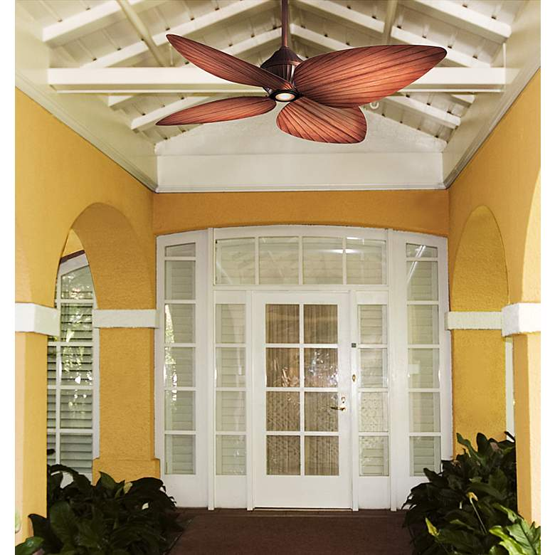 "52"" Minka Aire Indoor Outdoor Gauguin Ceiling Fan in scene"