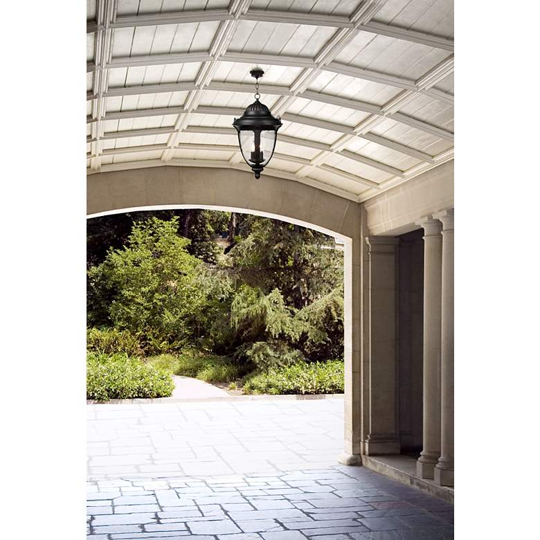 "Casa Sierra™ 20 1/2"" High Outdoor Hanging Lantern in scene"