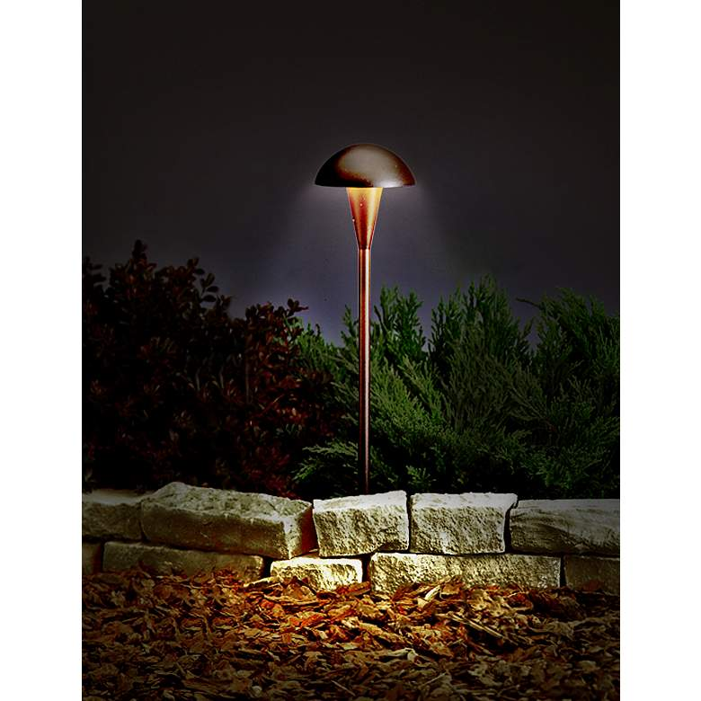 Kichler Low Voltage Landscape Path Light in Bronze in scene