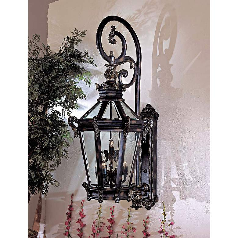 "Stratford Hall 63 1/4"" High Large Outdoor Wall Light in scene"