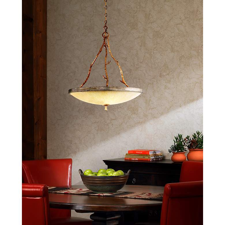 "Bal Harbour 24 1/2"" Wide Pendant Chandelier in scene"