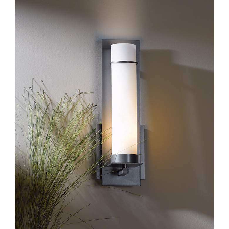 "New Town Collection Opal Glass 12 1/2"" High Wall Sconce in scene"