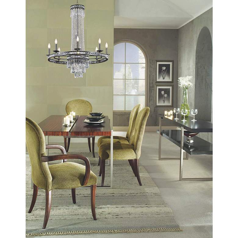 "Crystorama Mercer Collection 27"" Wide Chandelier in scene"
