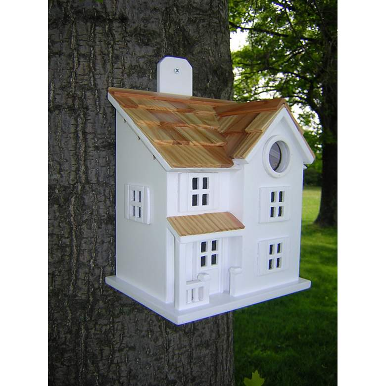 Townhouse White Bird House in scene