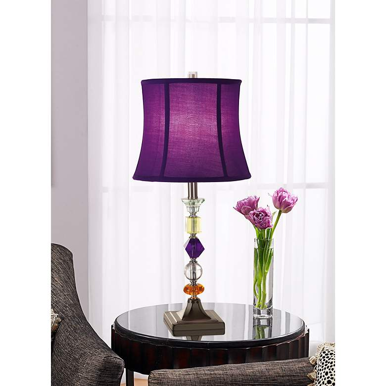 Purple Bijoux Table Lamp in scene