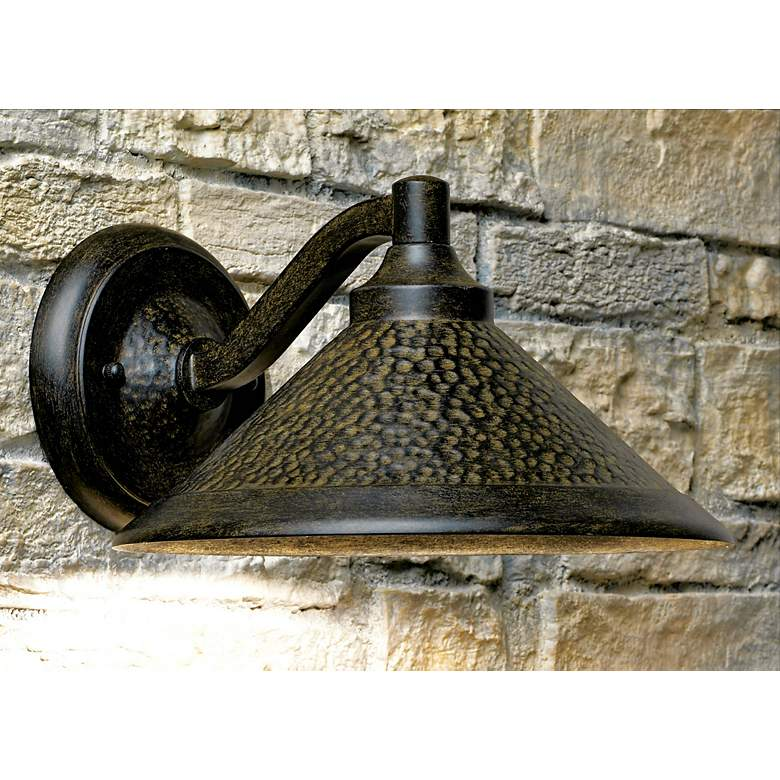 "Kirkham 11"" Wide Dark Sky Outdoor Wall Light in scene"