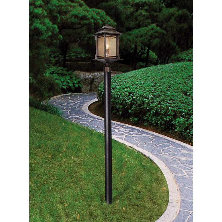 "Hickory Point 21 1/2"" High Bronze Outdoor Post"
