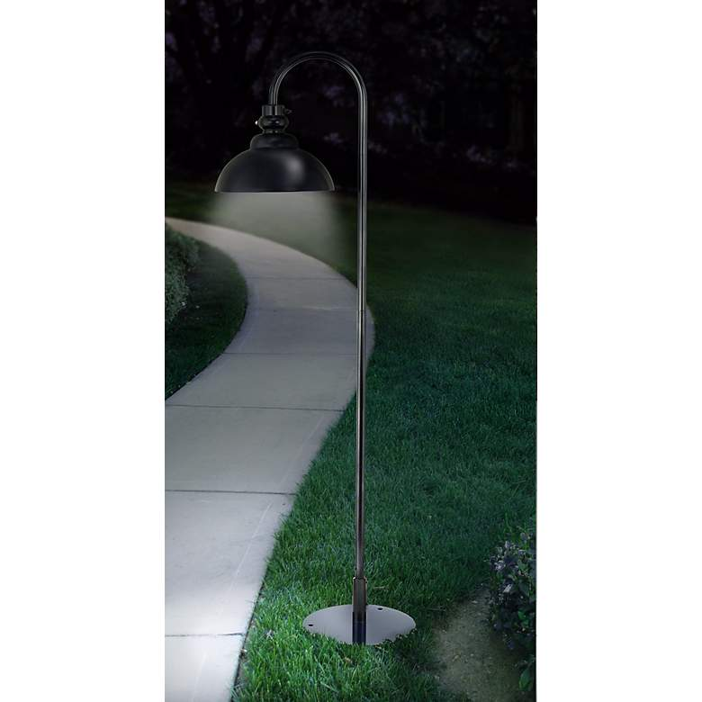 "Portable Plug-In 68"" High Landscape Light in scene"