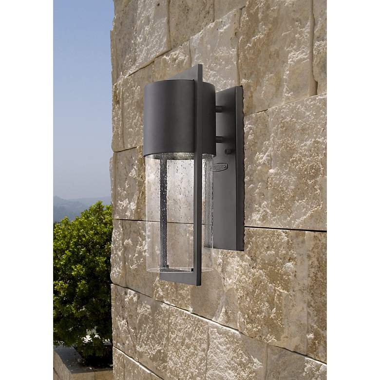 "Hinkley Shelter 15 1/2"" High Black Outdoor Wall"