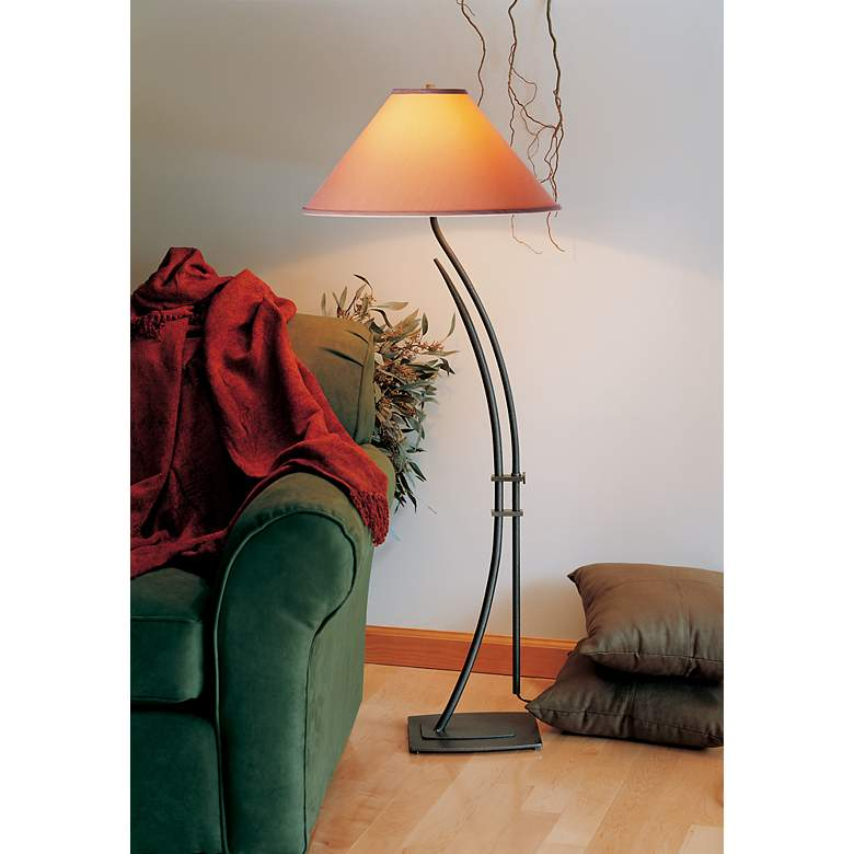 Hubbardton Forge Metamorphic Contemporary Floor Lamp in scene
