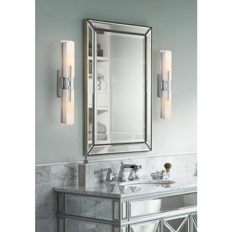 "Possini Euro Design Midtown 23 1/2"" High Chrome Bath Light in scene"