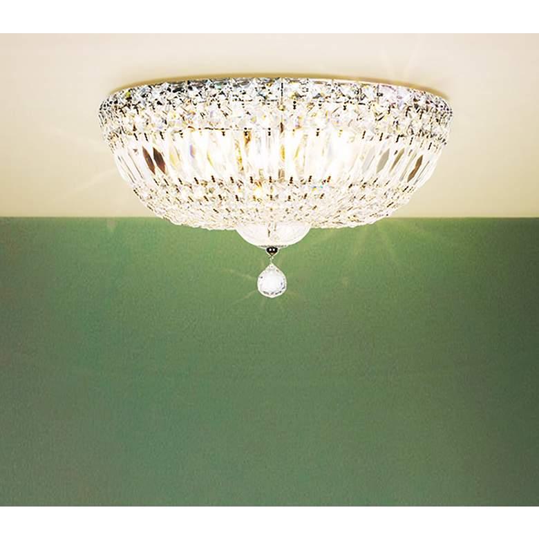 """James R. Moder Crystal 14"""" Wide Ceiling Light"""