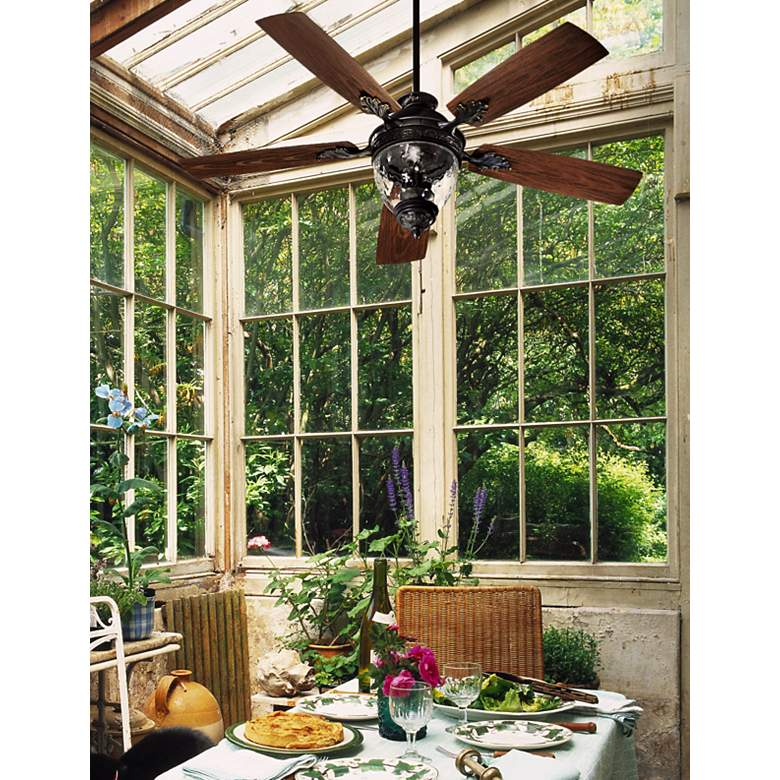 "52"" Quorum Georgia Old World Patio Ceiling Fan"