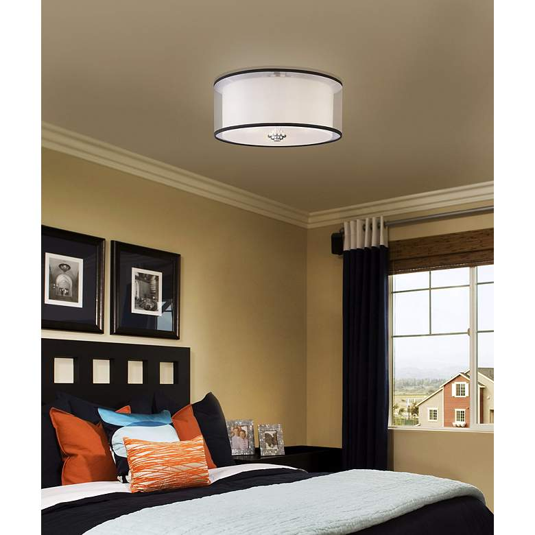"Maxim Orion 15"" Wide Flushmount Ceiling Light in scene"