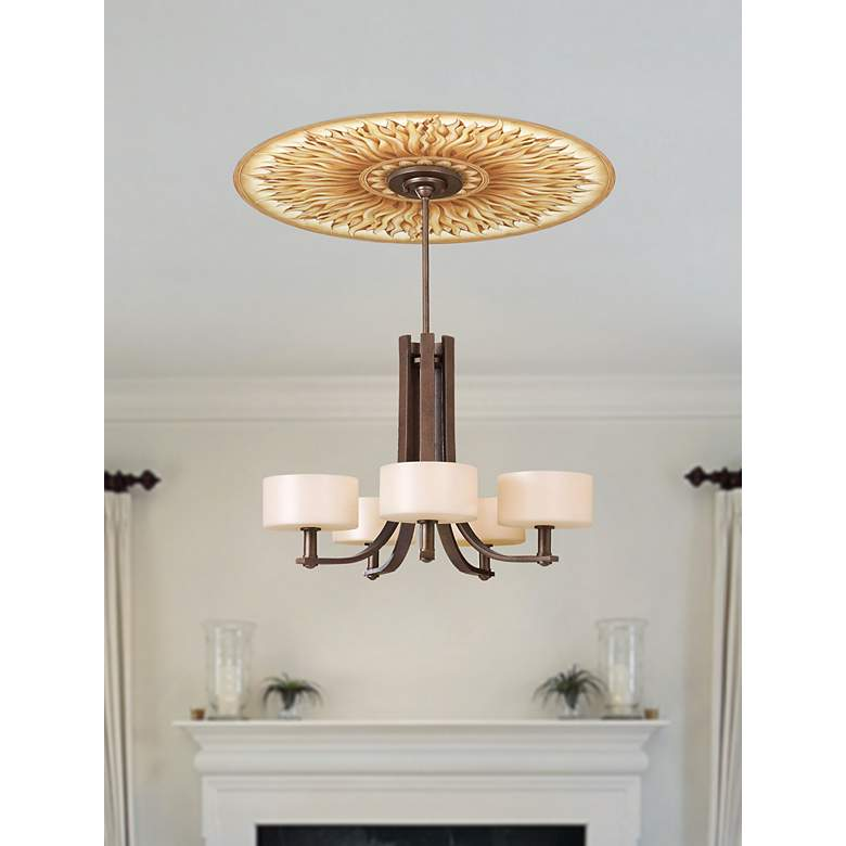 "Southern Sun 24"" Wide Repositionable Ceiling Medallion in scene"