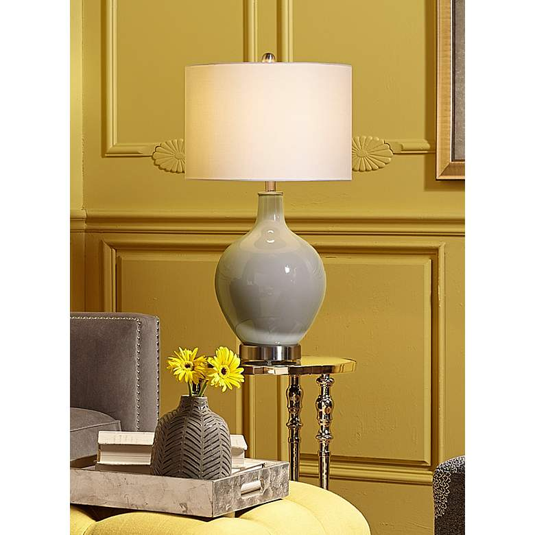 Swanky Gray Ovo Table Lamp in scene