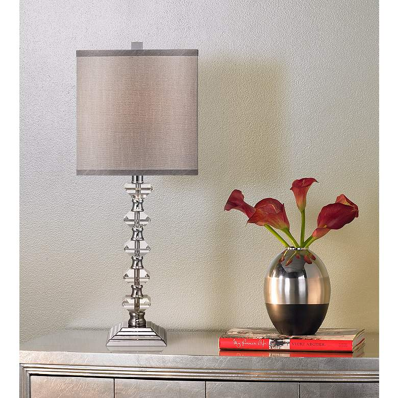 Deco Collection Colonnade Crystal Table Lamp