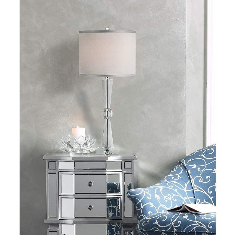 Linley Collection Element Crystal Table Lamp in scene