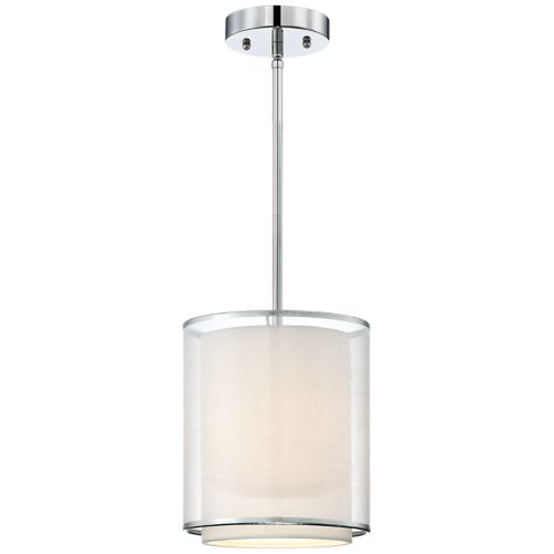 Possini Euro Design Double Organza Mini Pendant Light