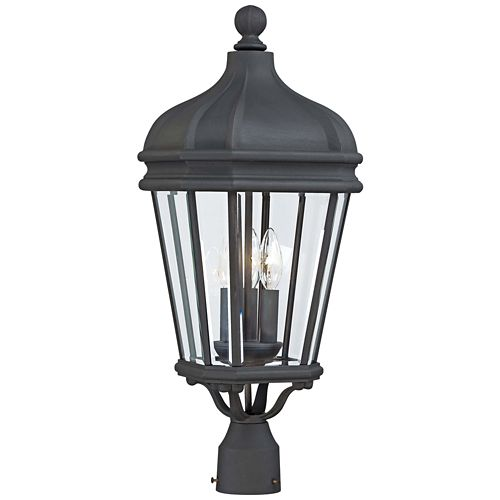 "Harrison 25"" High Black Outdoor Post Light"