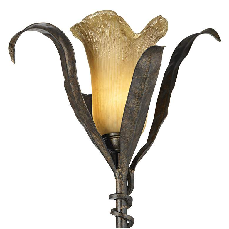 Franklin Iron Works Intertwined Lilies Floor Lamp 02350