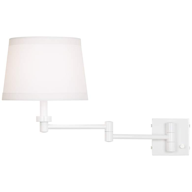 Vero White Plug-In Swing Arm Wall Lamp more views