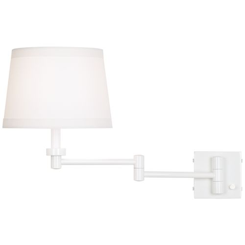 Vero White Plug-In Swing Arm Wall Lamp