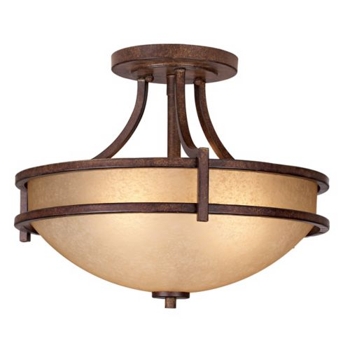 "Oak Valley Collection 18"" Wide Scavo Glass Ceiling Light"