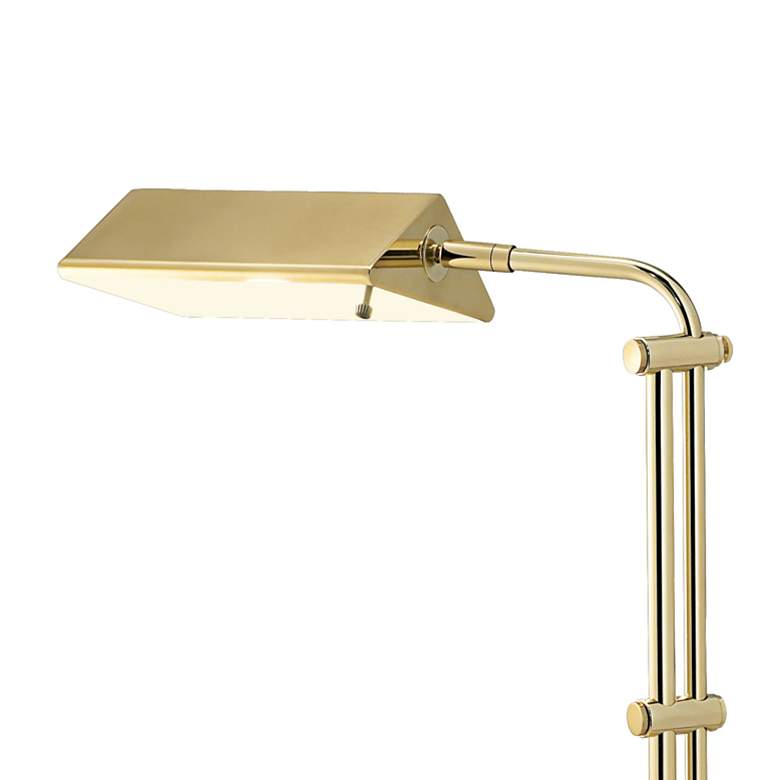 Dolan Brass Finish Adjustable Pharmacy Floor Lamp more views