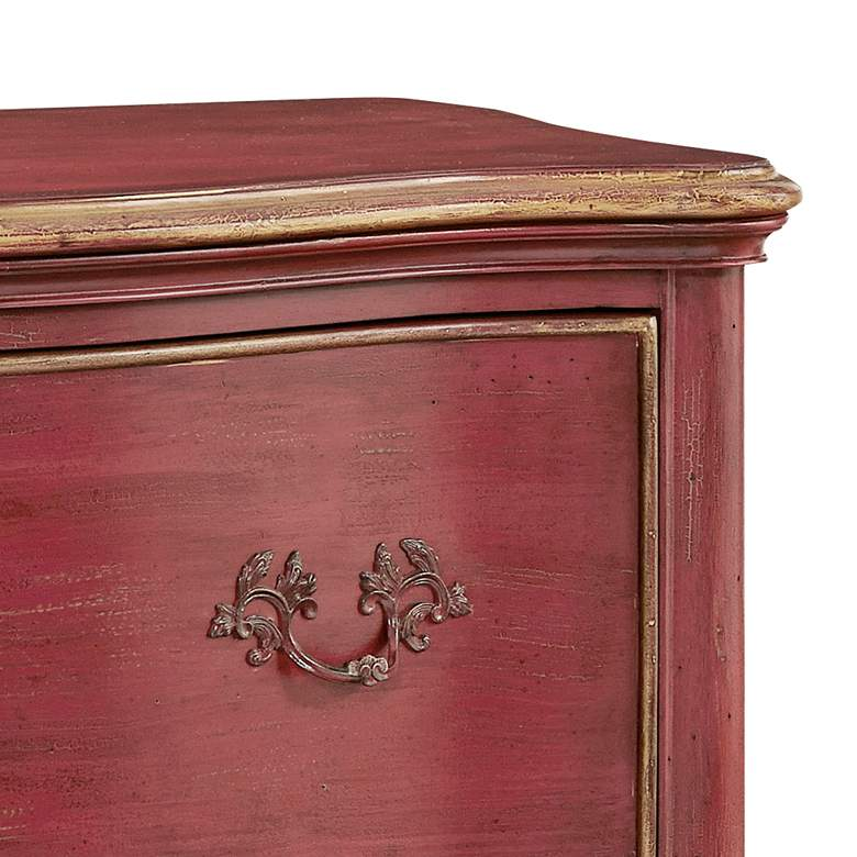 "Pulaski 38"" Wide Sharone Red 4-Drawer Accent Chest more views"
