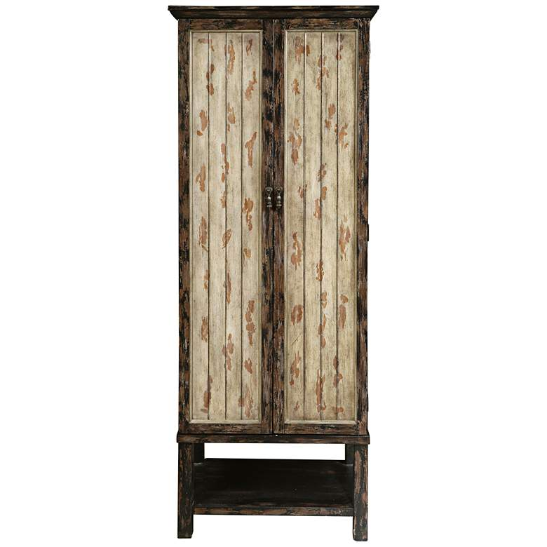"Gulfport 79"" High 2-Door Distressed Wood Accent Cabinet more views"