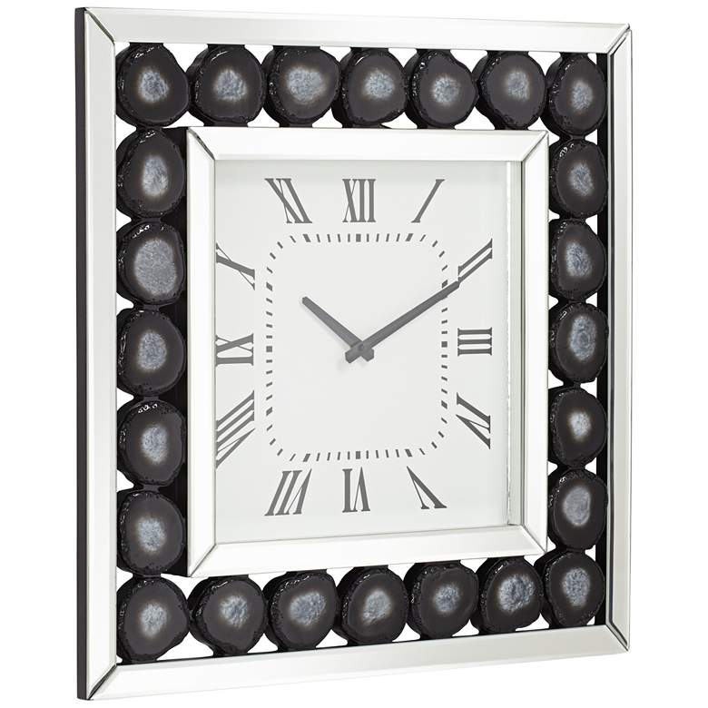 "Delria Agate 21"" Square Wall Clock more views"