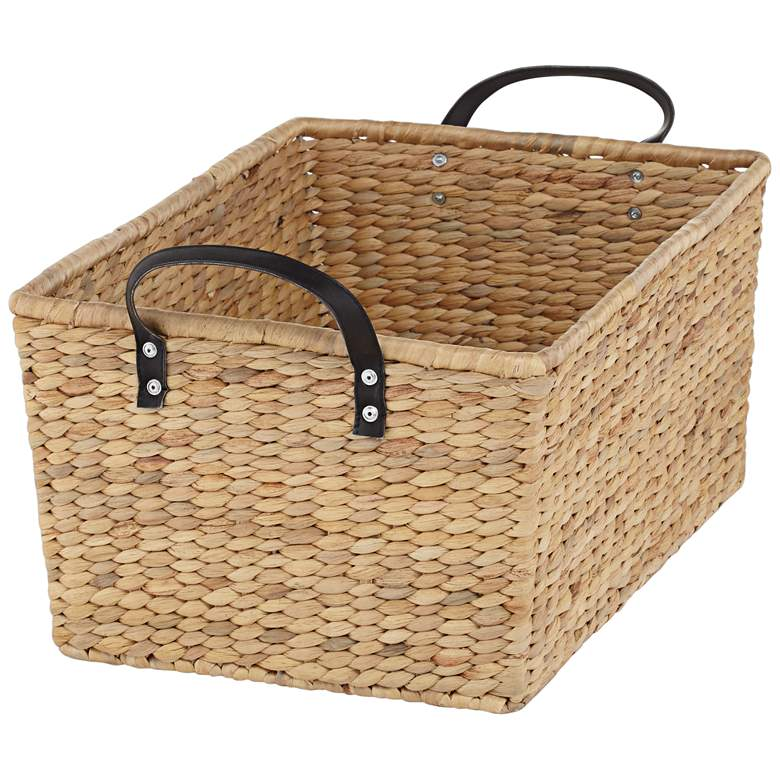 Hyacinth Open-Top 2-Piece Rectangular Basket Set more views