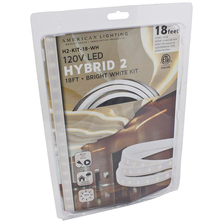 Hybrid 2 18-Foot Bright White LED Tape Light Kit more views