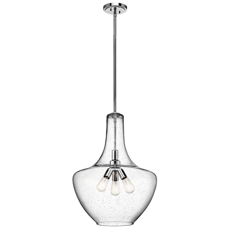 "Kichler Everly 20"" Wide Polished Chrome 3-Light Pendant more views"