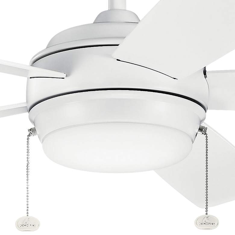 "60"" Kichler Starkk Matte White LED Ceiling Fan more views"