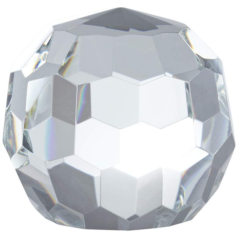 Kassady Clear Crystal Ball Paperweight more views