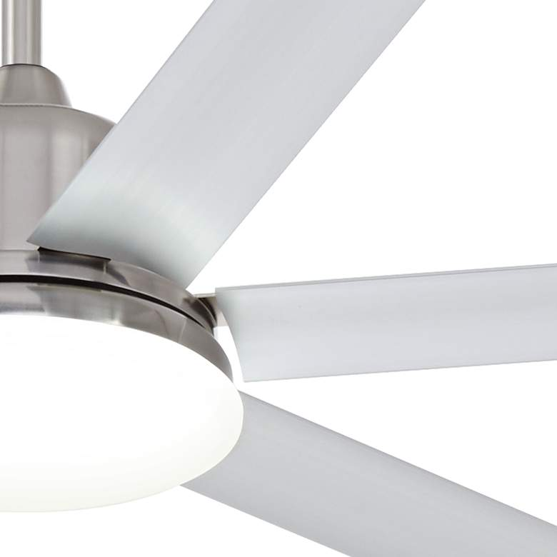"72"" Casa Arcade™ Brushed Nickel Damp LED Ceiling Fan more views"