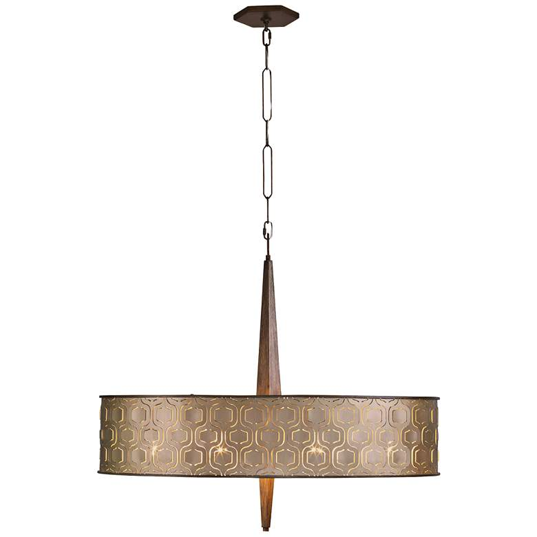 "Varaluz Iconic 36"" Wide Champagne Mist 9-Light Pendant more views"