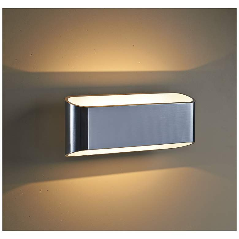 "Bruck Eclipse 4 1/2""H 2-Light Brushed Chrome LED Wall Sconce more views"