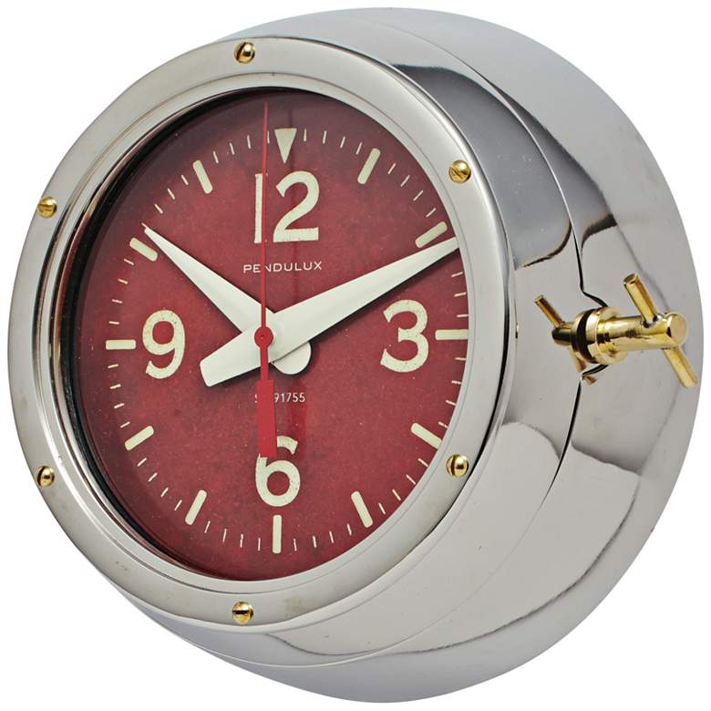 "Deep Sea 9"" Wide Aluminum Cold War Submarine Wall Clock more views"