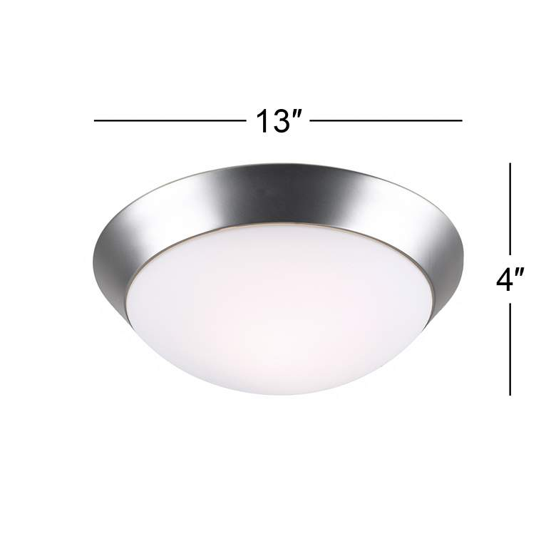 "Davis 13"" Wide Brushed Nickel Ceiling Light Fixture more views"